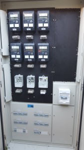 New Main Switch Board wired for separate metering of units with tariff 11 & 33 all on communal power